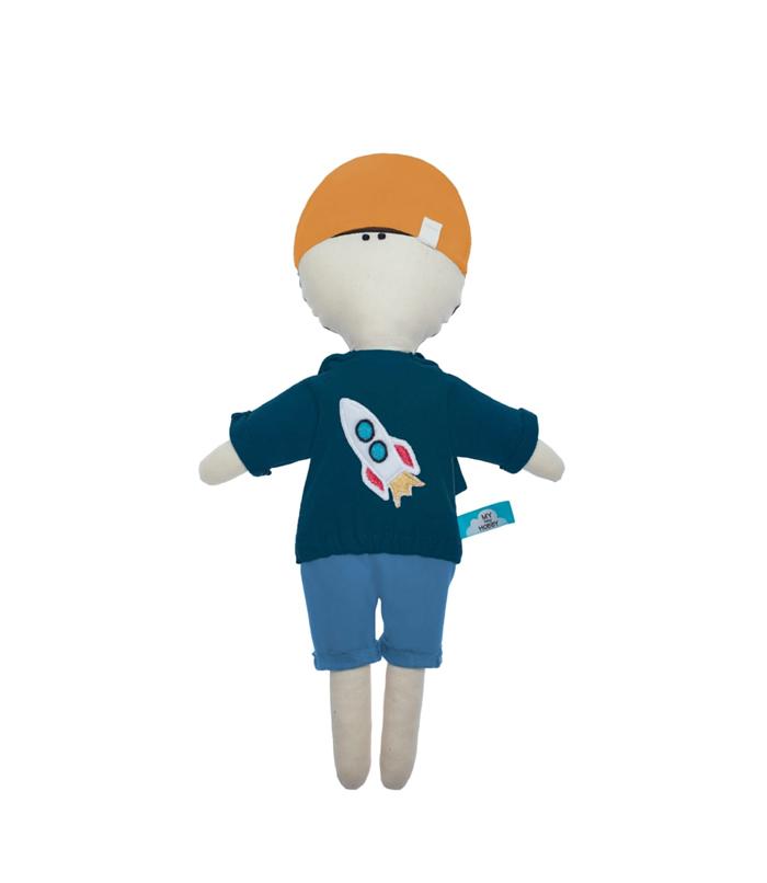 """Zabawka Przytulanka """"Ziomek"""" w bluzie z rakietą kosmiczną 40cm"""